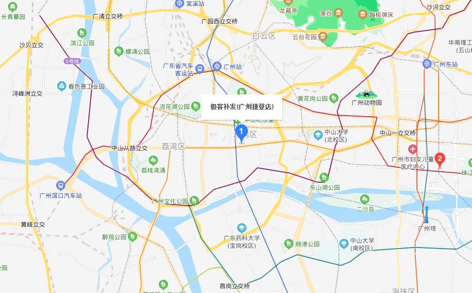 极客补发(广州捷登店)高清地图